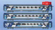 ACME 55260 Személykocsi-készlet, 3-részes négytengelyes Eurocity, II. készlet - Hungaria, MÁV-Start (E6) (H0)