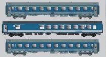 ACME 55263 Személykocsi-készlet, 3-részes InterCity, WRm/Apee/Bpee, MÁV (E5) (H0)