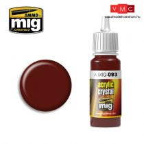 A.MIG-0093 Vörös üveg - CRYSTAL RED