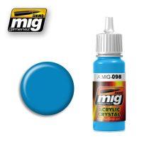 A.MIG-0098 Világoskék üveg - CRYSTAL LIGHT BLUE