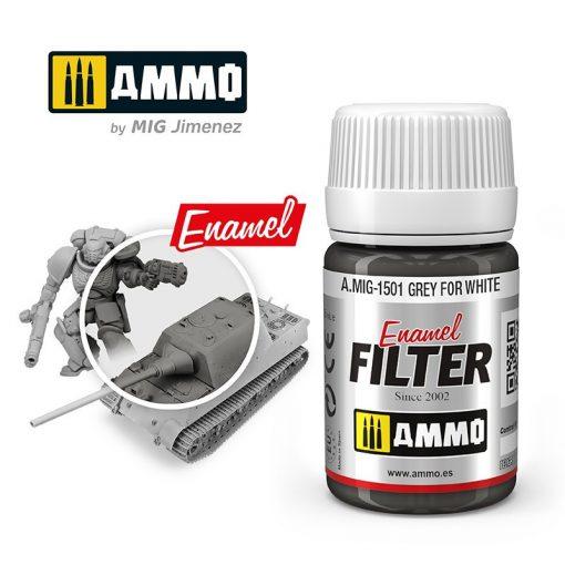 A.MIG-1501 Szürke filter fehérhez - GREY FOR WHITE