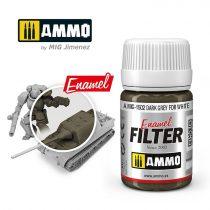 A.MIG-1502 Sötétszürke filter fehérhez - DARK GREY FOR WHITE