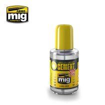 A.MIG-2038 MEDIUM DENSE CEMENT - SLOW DRY (polyester plastic glue) - makett RAGASZTÓ precíz e