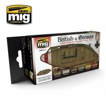 A.MIG-7111 I. világháborús Brit és Német színek - WW I British & German Colors