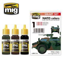 A.MIG-7114 NATO festék szett NATO COLOR SET - SMART ACRYLIC SET