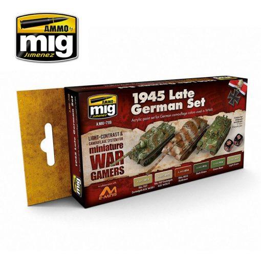 A.MIG-7118 WARGAME 1945 LATE GERMAN SET