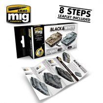 A.MIG-7128 BLACK & WHITE TECHNIQUE SET