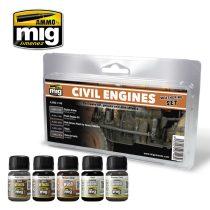 A.MIG-7146 CIVIL ENGINES WEATHERING SET