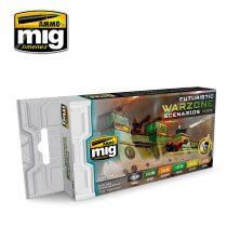 A.MIG-7154 FUTURISTIC WARZONE SCENARIOS COLOR SET