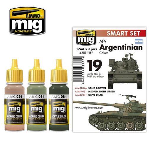 A.MIG-7167 Argentin Harcjármű Színek - AFV ARGENTINIAN COLORS
