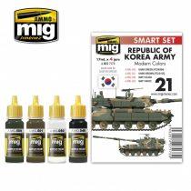 A.MIG-7173 REPUBLIC OF KOREA ARMY MODERN COLORS akril festék szett
