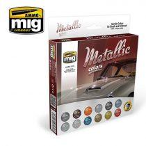 A.MIG-7175 Fém színek festék szett - METALLIC COLORS SET