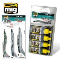A.MIG-7204 MiG & SU COLORS Grey & Green Fighters