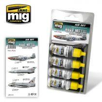 A.MIG-7216 BARE METAL AIRCRAFT COLORS akril festék szett