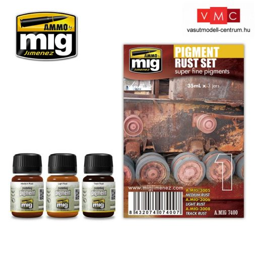A.MIG-7400 Rozsda pigment szett - PIGMENT RUST SET