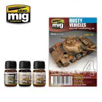 A.MIG-7403 Rozsdás járművek különleges hatás szett - RUSTY VEHICLES enamel weathering set