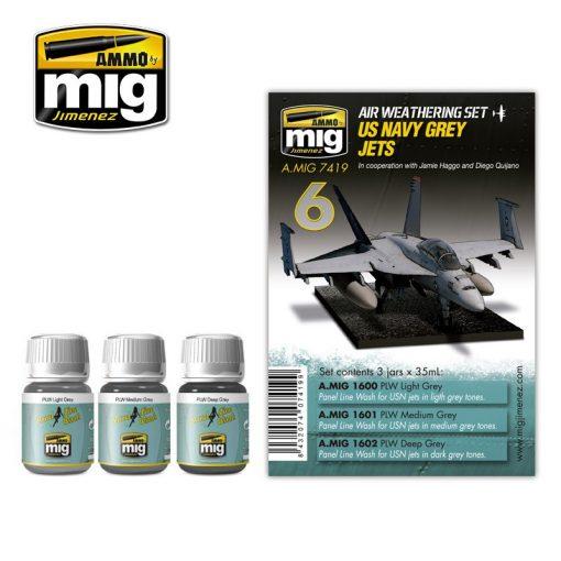 A.MIG-7419 Amerikai haditengerészet szürke JET szett - US NAVY GREY JETS