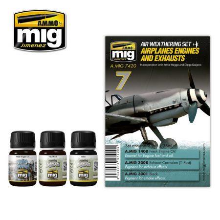 A.MIG-7420 Repülőgép motor és kipufogó - AIRPLANES ENGINES AND EXHAUSTS