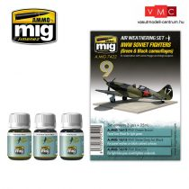 A.MIG-7422 WW II SOVIET AIRPLANES (Green & Black camouflages)