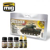 A.MIG-7427 FURY SHERMAN SET