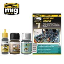 A.MIG-7436 Amerikai modern pilótafülke festék és weathering szett - US MODERN COCKPITS