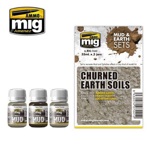A.MIG-7441 CHURNED EARTH SOILS - Feltúrt Föld Sár Effekt Szett