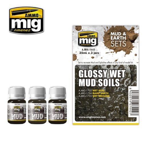 A.MIG-7442 GLOSSY WET MUD SOILS - Vizes Talaj Sár Effekt Szett