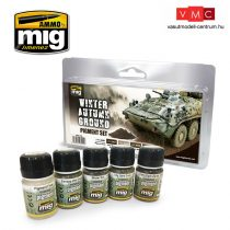 A.MIG-7455 WINTER-AUTUMN GROUND PIGMENT SET