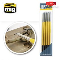 A.MIG-7606 RUBBER BRUSH SET