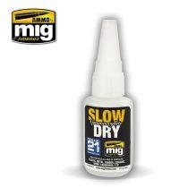 A.MIG-8013 SLOW DRY CYANOACRYLATE - Lassan száradó cianoakrilát ragasztó