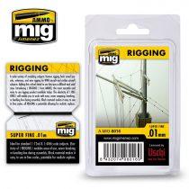 A.MIG-8016 Kötélzet, extra vékony 0,01 MM - RIGGING – SUPER FINE 0.01 MM
