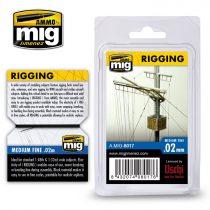 A.MIG-8017 Kötélzet, közepes vastagságú 0,02 MM - RIGGING – MEDIUM FINE 0.02 MM