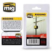 A.MIG-8018 Vékony kötélzet - 0,03 MM - RIGGING – FINE 0.03 MM
