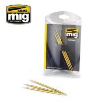 A.MIG-8026 Hegyes réz pálca cyanoakrilát ragasztóhóz és kopások készítéséhez - BRASS