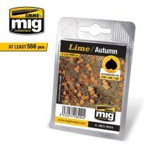 A.MIG-8404 Hárslevél, őszi - LIME – AUTUMN