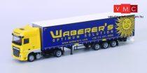 AWM 939201 DAF XF106/2 SSC nyergesvontató, ponyvás félpótkocsival - Waberer's (H0)