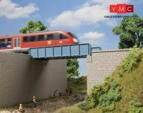 Auhagen 11441 Acéllemezes vasúti híd, hídfőkkel (H0)