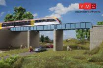 Auhagen 11442 Vasúti acélgerendás híd 2 db pillérrel (H0) - kiegészítés a 11441-hez