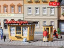 Auhagen 12340 Újságospavilon telefonfülkével