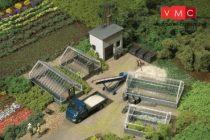 Auhagen 12351 Kertészet üvegházakkal (H0/TT)