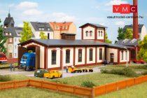 Auhagen 13345 Fűtőház, egyvágányos, különálló vízházzal (TT)