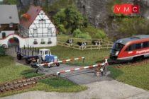 Auhagen 41582 Sorompós vasúti átjáró, egyenes - Kész modell