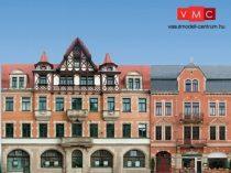 Auhagen 42501 Háttér készlet öt épülettel, kartonpapírból (H0/TT)