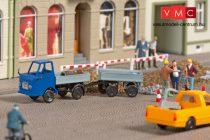 Auhagen 43661 Multicar M22 platós teherautó pótkocsival (TT)