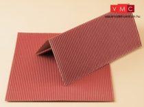 Auhagen 50112 Kartonlap vörös hullámlemez, 2 db
