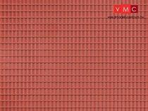 Auhagen 52225 Dekorlap, vörösbarna tetőlap, 2 db (H0/TT)