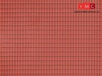 Auhagen 52225 Dekorlap, vörösbarna tetőlap, 2 db