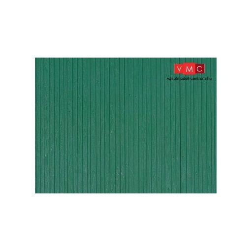 Auhagen 52419 Dekorlap, deszkafal, zöld, 1 db (H0/TT)