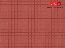 Auhagen 52422 Dekorlap, vörösbarna járólap, 1 db