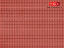 Auhagen 52425 Dekorlap, vörösbarna tetőlap, 1 db